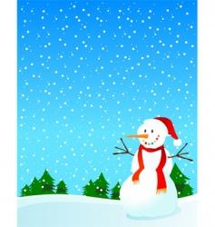 Snowman and snow vector