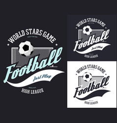 soccer or european football sign for t-shirt vector image