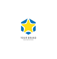 star logo symbol vector image