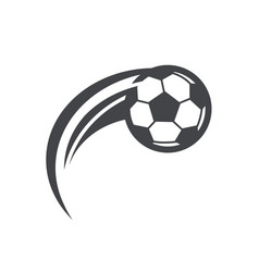 Swoosh soccer football logo icon vector