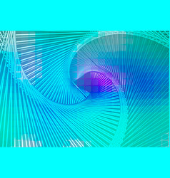 turquoise blue purple glowing spiral background vector image