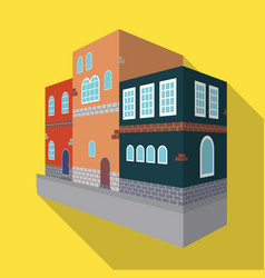 typical scandinavian building architectural vector image