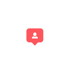 User icon instagram symbol comment avatar on vector