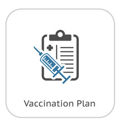vaccination plan flat icon vector image