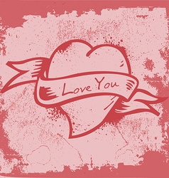 Vintage Heart Label vector