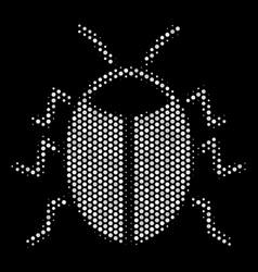 white halftone bug icon vector image