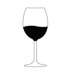 wine glass silhouette vector image