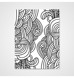 Abstract poste rwith zentangle ornament vector image