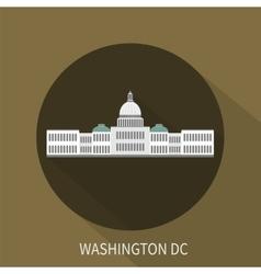 Capitol building in Washington DC icon vector image