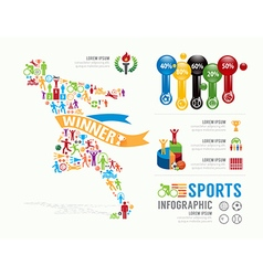 Sports Template Design Infographic concept vector image vector image