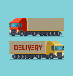 truck lorry symbol or icon delivery shipping vector image
