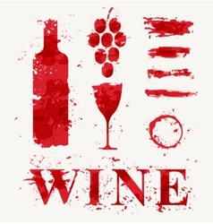 Wine elements consisting of a spray vector image
