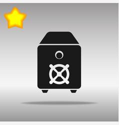 safe black icon button logo symbol concept vector image vector image