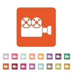The video camera icon Camcorder symbol Flat vector image