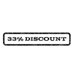33 percent discount watermark stamp vector image