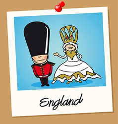 England travel polaroid people vector image vector image