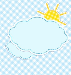 Frame with clouds and sun vector image vector image
