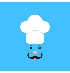 physiognomy of chef on blue background vector image