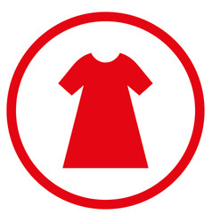 woman dress rounded icon vector image vector image