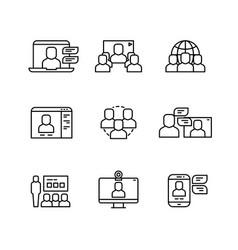 workshop video conference and online vector image