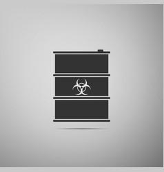 biological hazard or biohazard barrel flat icon on vector image