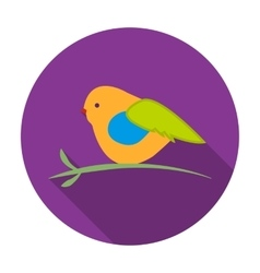 Bullfinch sitting on a branch icon in flat style vector image vector image