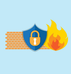 firewall network security icon vector image