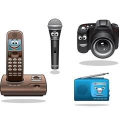 Gadgets and devices in cartoon style vector image vector image