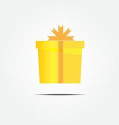 gold gift box vector image