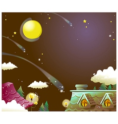 House Night Sky vector image