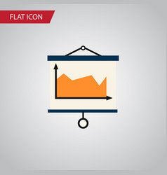 Isolated canvas flat icon diagram element vector