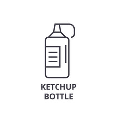 ketchup bottle line icon outline sign linear vector image