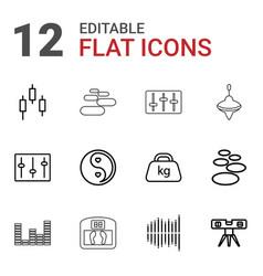 12 balance icons vector
