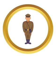 A man in army uniform icon vector