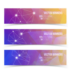 Abstract banners with constellation of lights vector