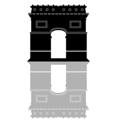 Arc de Triomphe in Paris vector