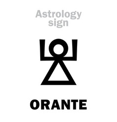 Astrology orante vector
