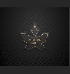 autumn sale luxury banner golden text and vector image