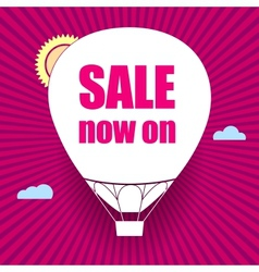 Balloon cut out of paper with the words sale now vector image