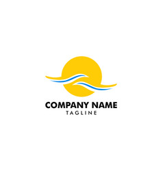 beach logo design vector image