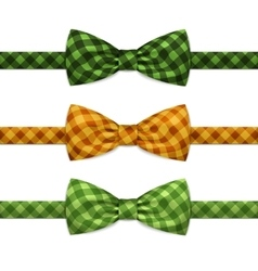 Bow Tie Bowtie Set Isolated on White vector image