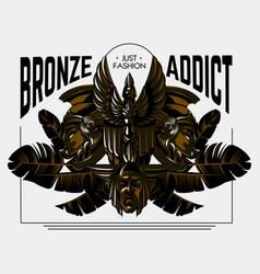 Bronze addict hand drawn vector