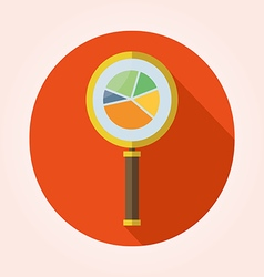 Business Analysis symbol with magnifying glass ico vector image