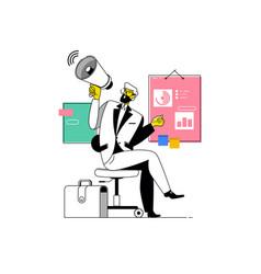 businessman shouting into megaphonemake an vector image
