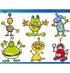 Cartoon Fantasy Characters Set vector image