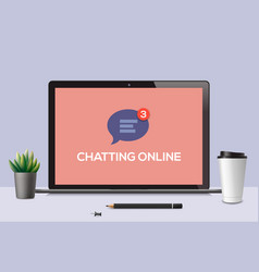 chatting online online chat icon vector image