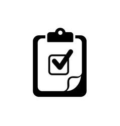 checklist - icon clipboard checklist in trendy vector image