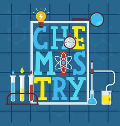 Chemistry typographic poster vector
