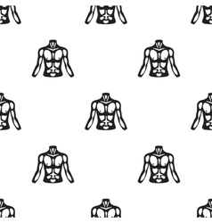 Chest icon in black style isolated on white vector image