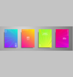 colorful covers design set modern covers template vector image